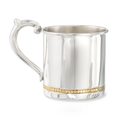 Cunill Baby's Sterling Silver and 24kt Gold Plate Beaded Cup, , default