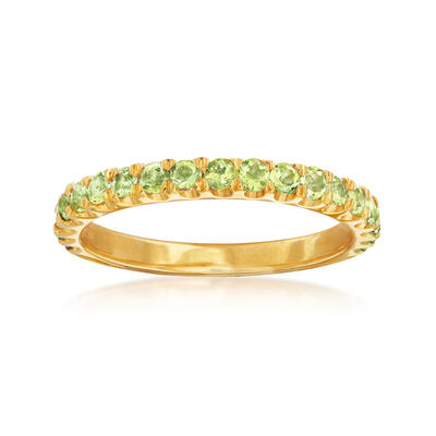 .70 ct .t.w. Peridot Ring in 18kt Gold Over Sterling, , default
