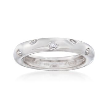 .36 ct. t.w. Burnish-Set CZ Ring in Sterling Silver, , default