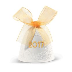 "Lladro 2017 Annual ""Re-Deco"" Porcelain Bell Ornament, , default"