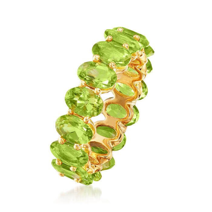 7.25 ct. t.w. Peridot Eternity Band in 18kt Gold Over Sterling