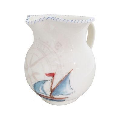 Abbiamo Tutto Italian Ceramic Sailboat Pitcher