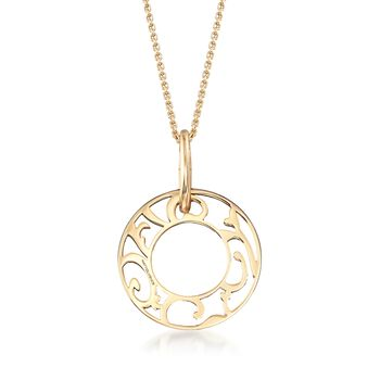 "Mattioli ""Siriana"" 18kt Yellow Gold Pendant Necklace with Three Interchangeable Pendants: 18kt Gold and Multi-Stone. 16.75"""