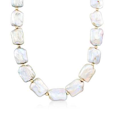 17-20mm Cultured Pearl Necklace in 14kt Yellow Gold, , default