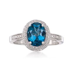 1.80 Carat London Blue Topaz Ring in Sterling Silver, , default