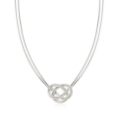Italian Celtic Flex Knot Necklace with Sterling Silver, , default