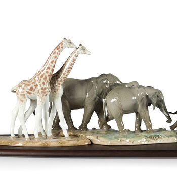 Lladro African Savannah Porcelain Figurine Set, , default