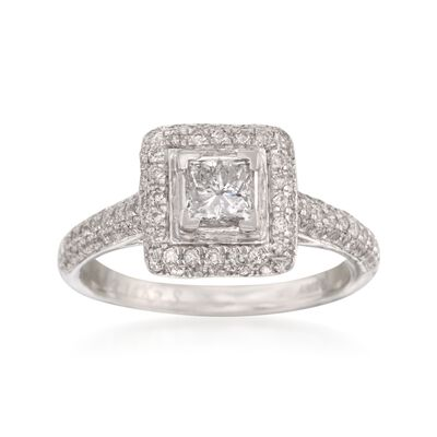 1.00 ct. t.w. Diamond Engagement Ring in 14kt White Gold, , default