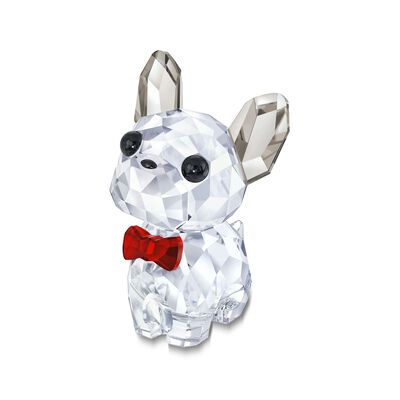 "Swarovski Crystal ""Puppy Bruno the French Bulldog"" Clear and Red Crystal Figurine, , default"