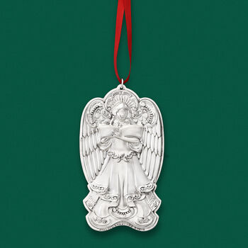 "Wallace 2019 Annual ""Grande Baroque"" Sterling Silver Angel Ornament - 19th Edition"