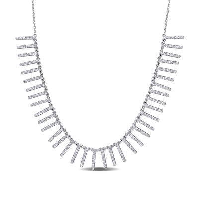 1.50 ct. t.w. Diamond Necklace in 14kt White Gold, , default