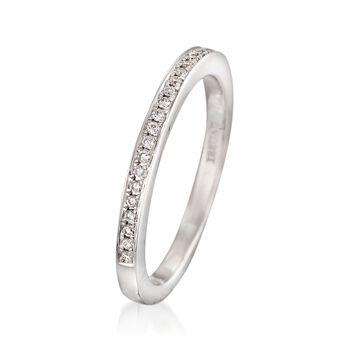 Henri Daussi .15 ct. t.w. Diamond Wedding Ring in 14kt White Gold, , default