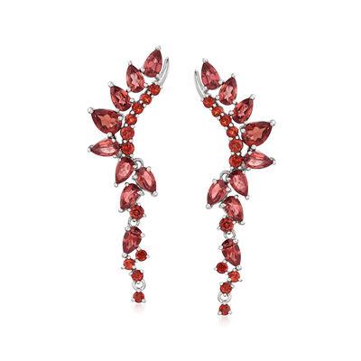 5.05 ct. t.w. Garnet Drop Earrings in Sterling Silver