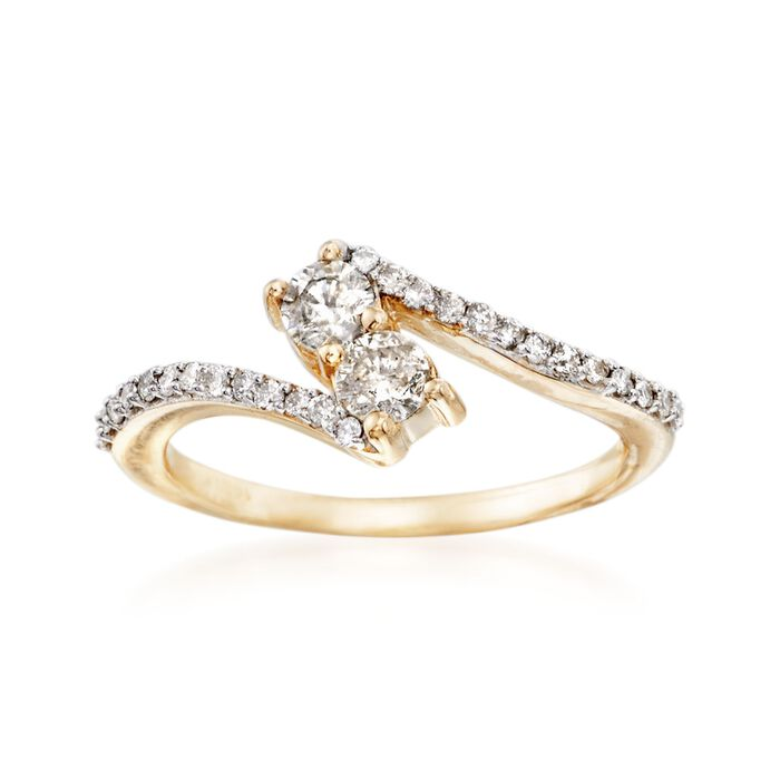 .50 ct. t.w. Diamond Two-Stone Ring in 14kt Yellow Gold, , default