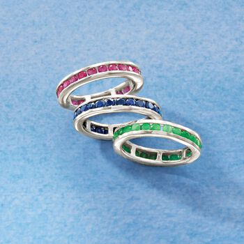 2.00 ct. t.w. Channel-Set Ruby Eternity Band in Sterling Silver, , default
