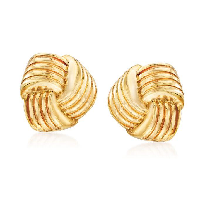 Italian 14kt Yellow Gold Puffed Knot Clip-On Earrings