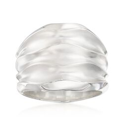 "Zina Sterling Silver ""Desert Waves"" Wide Ring, , default"