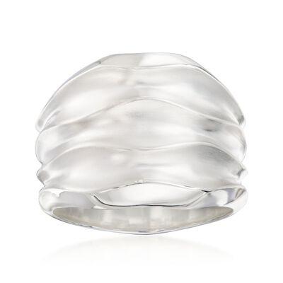 """Zina Sterling Silver """"Desert Waves"""" Wide Ring, , default"""