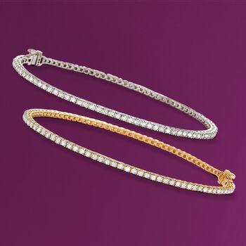 2.00 ct. t.w. Diamond Tennis Bracelet in 14kt Yellow Gold, , default