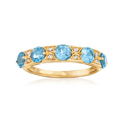 1.60 ct. t.w. Swiss Blue Topaz Ring in 14kt Yellow Gold