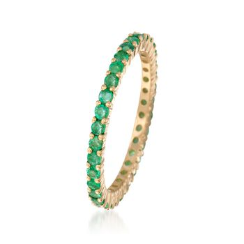 .80 ct. t.w. Emerald Eternity Band in 14kt Yellow Gold. Size 8, , default