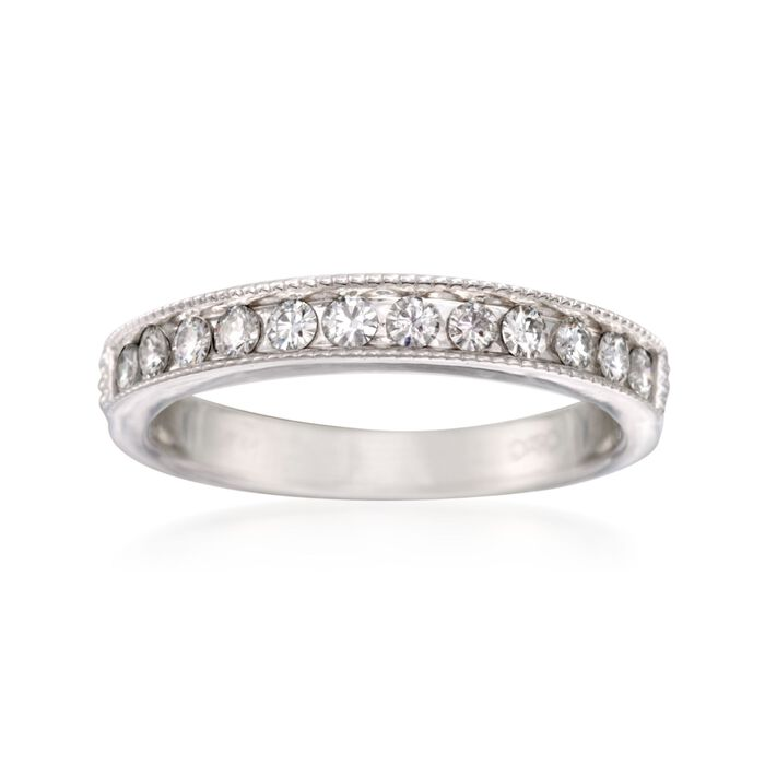.35 ct. t.w. Synthetic Moissanite Wedding Ring in 14kt White Gold, , default