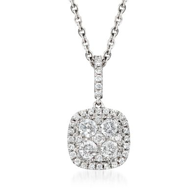 .65 ct. t.w. Diamond Pendant Necklace in 18kt White Gold, , default