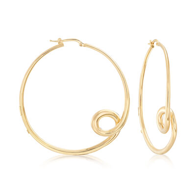 "Roberto Coin ""Oro Classic"" 18kt Yellow Gold Small Loop Hoop Earrings, , default"