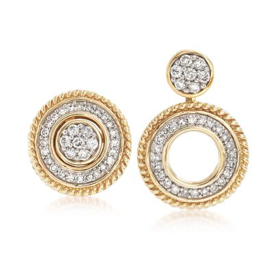 33 ct. t.w. Diamond Jewelry Set: Earrings and Earring Jackets in 14kt Yellow Gold , , default