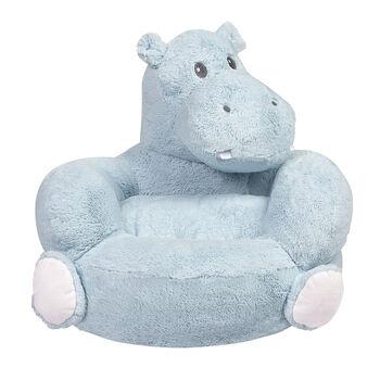 Children's Plush Hippo Chair, , default