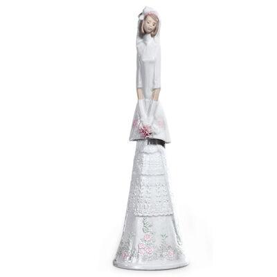 Lladro Bridal Bell Porcelain Figurine