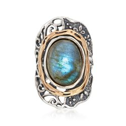 Labradorite Ring in 14kt Yellow Gold and Sterling Silver, , default