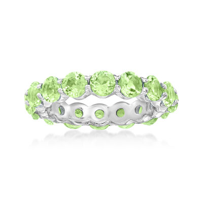 3.30 ct. t.w. Peridot Eternity Band in Sterling Silver