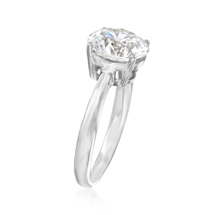 3.00 Carat CZ Solitaire Ring in 14kt White Gold