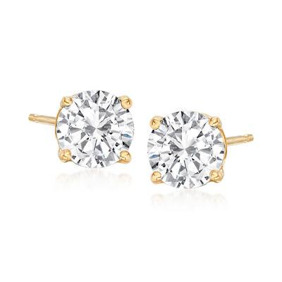 1.60 ct. t.w. Diamond Stud Earrings in 14kt Yellow Gold