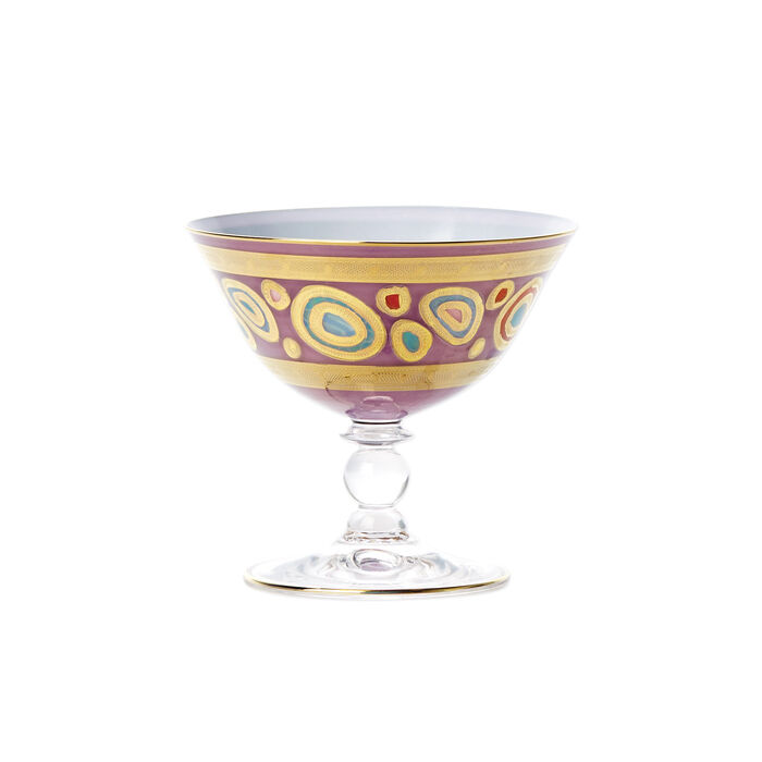 "Vietri ""Regalia"" Purple Dessert Bowl"