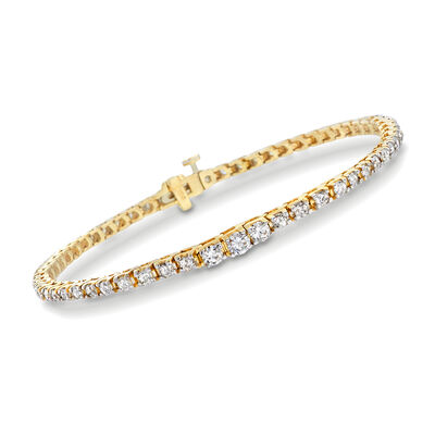 3.00 ct. t.w. Diamond Graduated Tennis Bracelet in 14kt Yellow Gold, , default