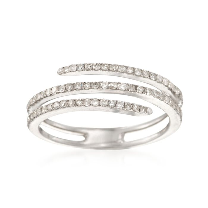 .35 ct. t.w. Diamond Coil Ring in Sterling Silver, , default