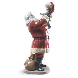 "Lladro ""Merry Christmas Santa!"" Porcelain Figurine, , default"