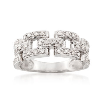 .20 ct. t.w. Diamond Link Ring in Sterling Silver, , default