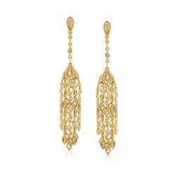 """Judith Ripka """"Stella"""" .55 ct. t.w. Diamond Tassel Drop Earrings in 18kt Yellow Gold , , default"""