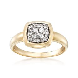 .25 ct. t.w. Diamond Square Ring in 14kt Yellow Gold, , default