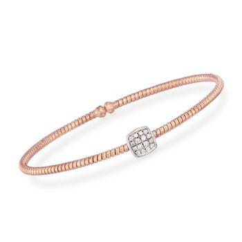 "Simon G. .16 ct. t.w. Diamond Square Bracelet in 18kt Rose Gold. 7"", , default"