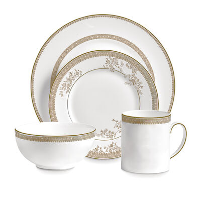 "Vera Wang for Wedgwood ""Lace Gold"" Dinnerware, , default"