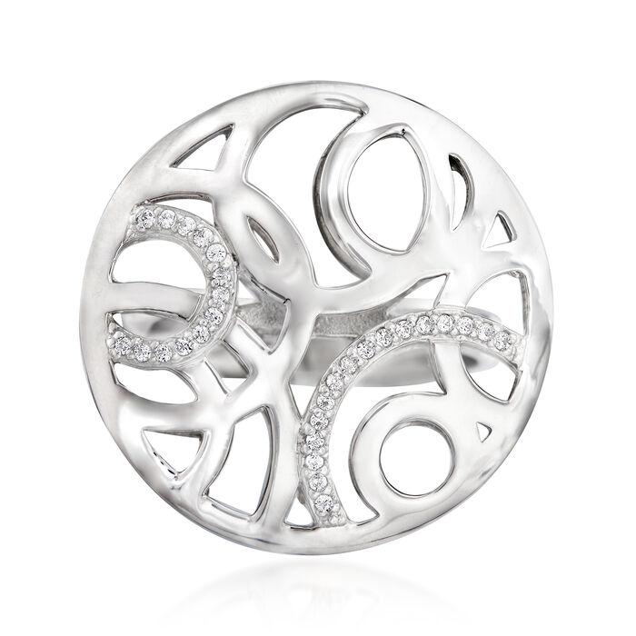 Belle Etoile Celestia .16 ct. t.w. CZ Ring in Sterling Silver. Size 7, , default