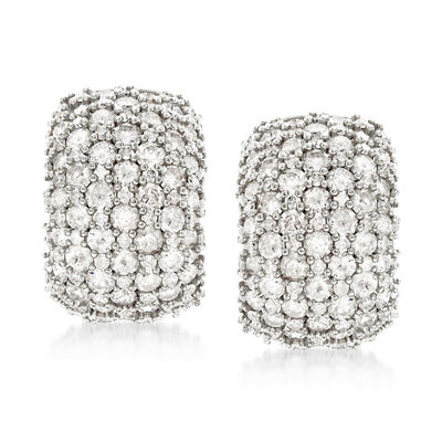 5.00 ct. t.w. Pave Diamond Earrings in Sterling Silver