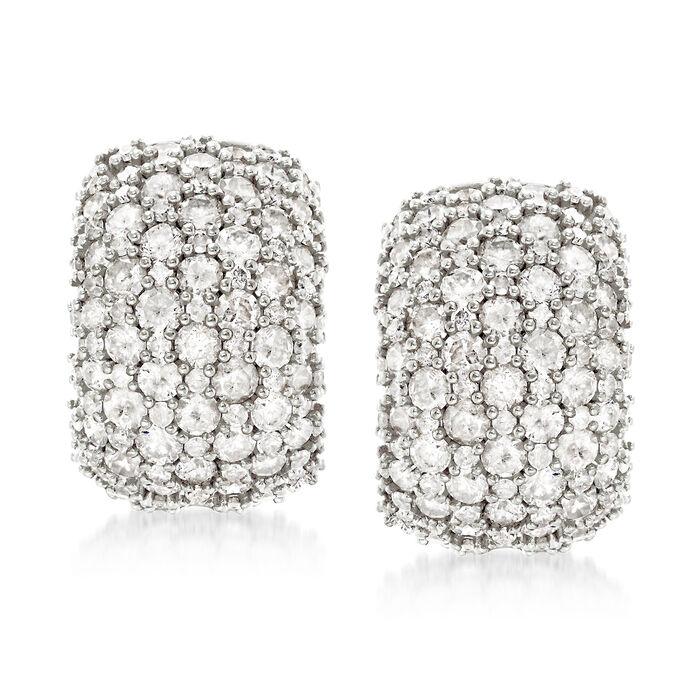 5.00 ct. t.w. Pave Diamond Earrings in Sterling Silver