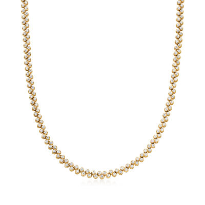 C. 1980 Vintage 6.50 ct. t.w. Diamond Necklace in 14kt Yellow Gold, , default