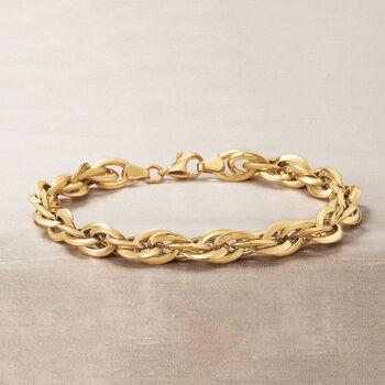 14kt Yellow Gold Mutli-Oval Link Bracelet, , default