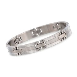 Men's Stainless Steel Link Bracelet, , default